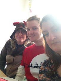 Christmas 2013 Me, Dan and Sarah